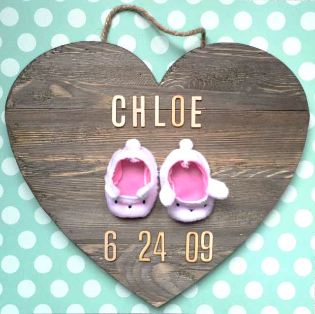 Personalized Bunny Slipper Kid's Decor