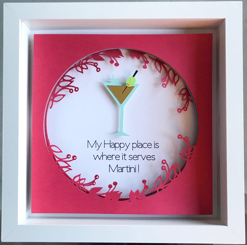 Martini Anyone?  This Martini decor art will surely bring smile to someone who loves Martinis!