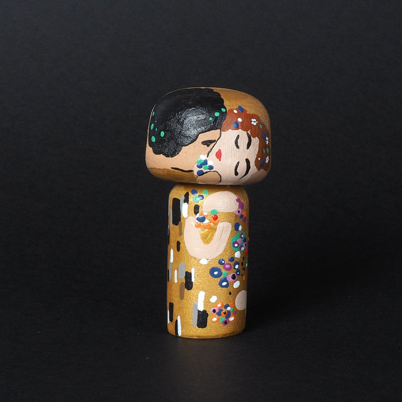 Klimt Mini Kokeshi - The Kiss (Limited Edition)