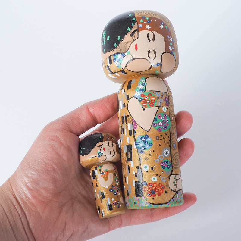 Klimt Large Kokeshi - The Kiss (Limited Edition)