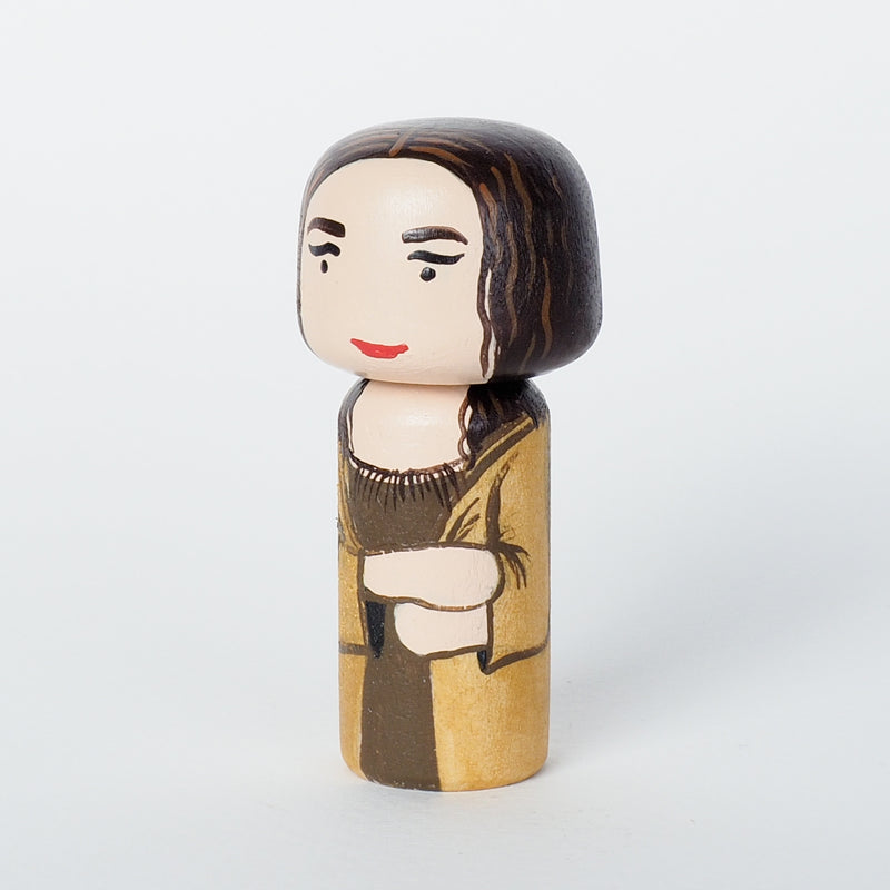 Mona Lisa Mini Kokeshi - Leonardo Da Vinci (Limited Edition)
