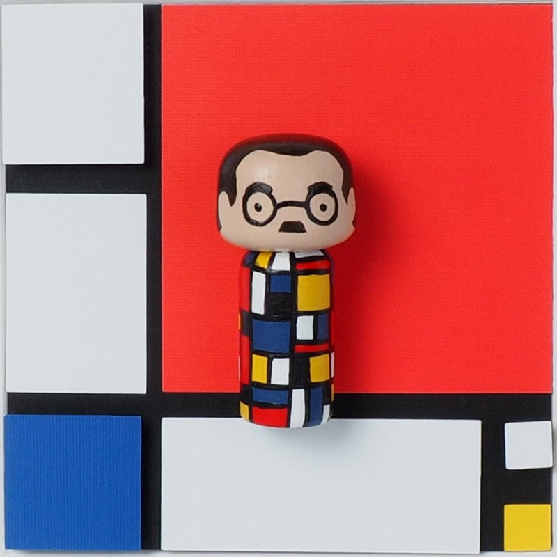 Piet Mondrian - Mini Kokeshi (Limited Edition)