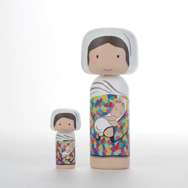 Tiny Christmas Nativity Set in Kokeshi Dolls