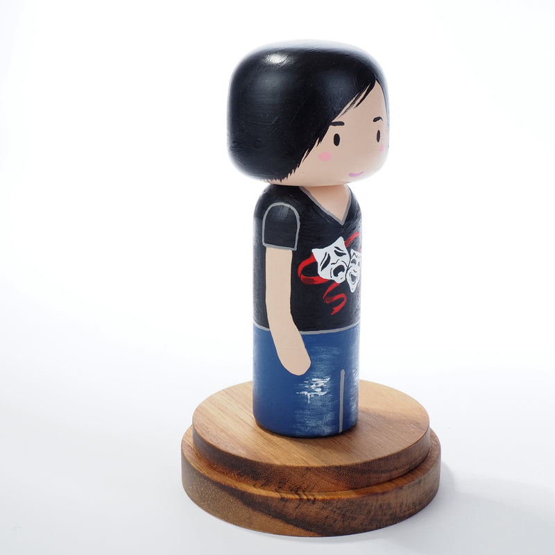 Drama Teacher - Occupational and family portrait Kokeshi dolls!  Give something unique and personalized.  Customize an occupation of your family, friends, or colleagues on Kokeshi dolls!  They are hand-painted with love that show the uniqueness of each individual.