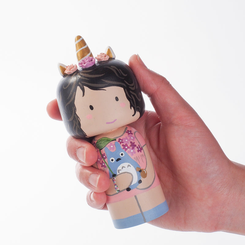 Custom Portrait on Kokeshi Dolls