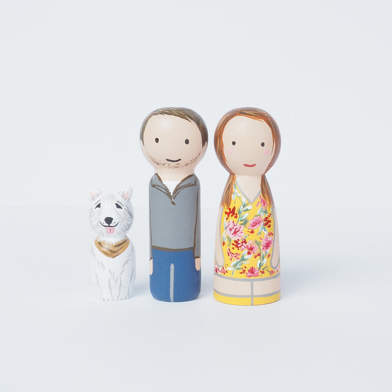 Big Family portrait - Peg Dolls