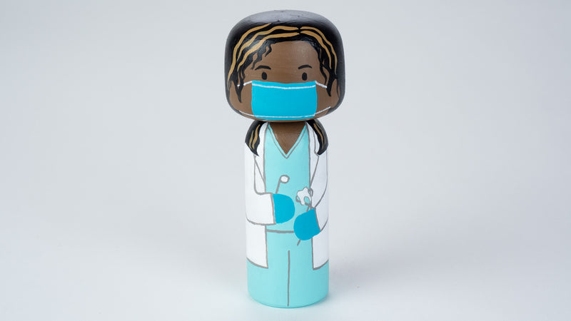Dentist- Occupational Kokeshi and Peg Dolls
