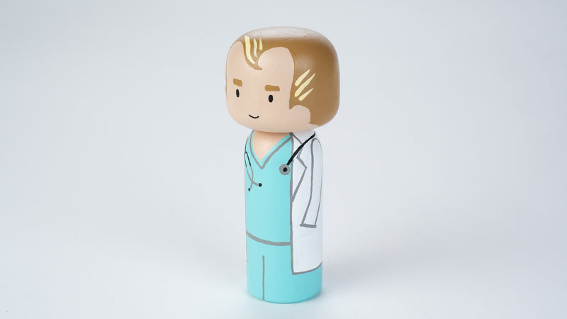 Doctor Kokeshi and Peg doll