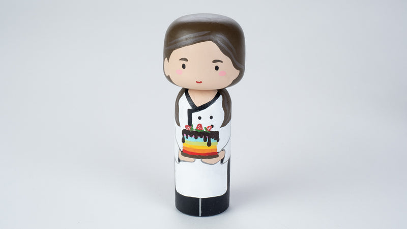 Sample Sale - Baker Chef Kokeshi Doll