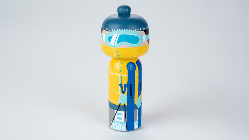 Skier - Hobby and Occupational Kokeshi Dolls