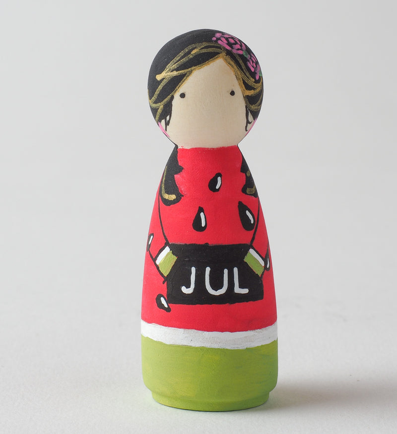 Birthday Peg Dolls.  Give something unique and personalized for birthday girl or boy. Custom peg dolls of your family, friends, or colleagues! They are hand-painted that show the uniqueness of each individual with their birthday months. This will definitely touch the heart and bring smiles.