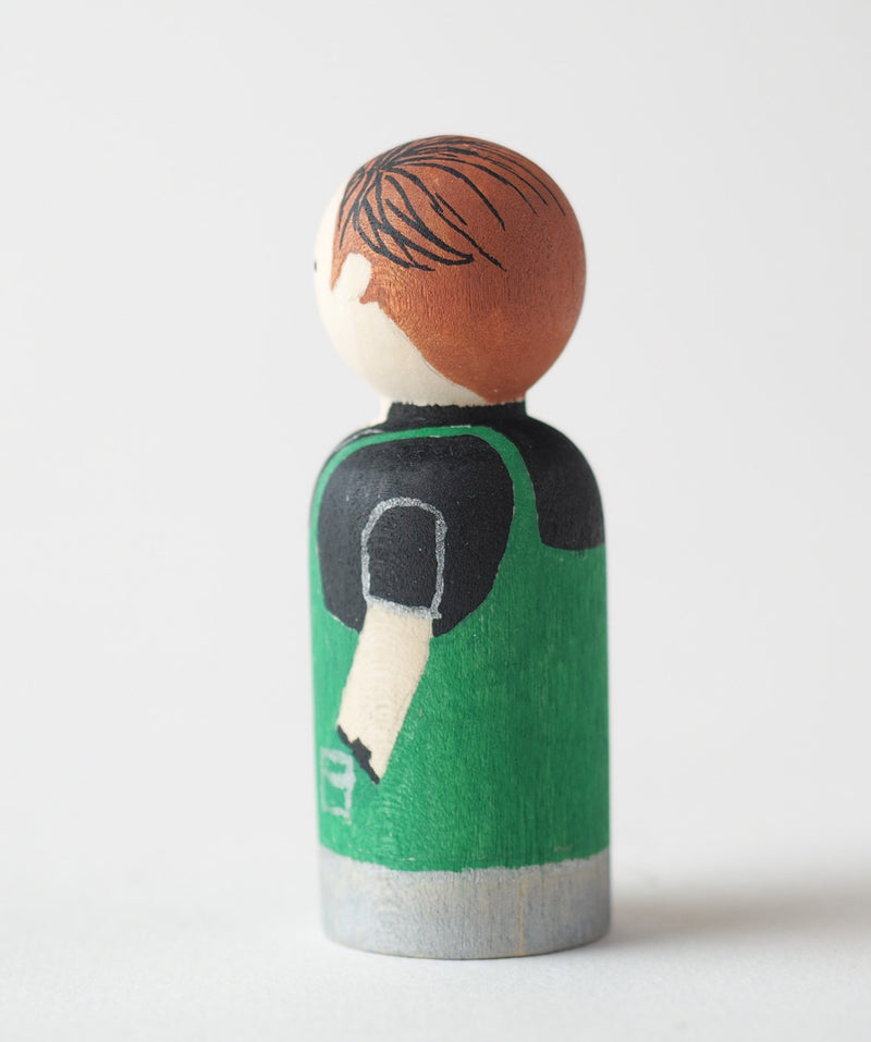Occupational gift - Barista Peg dolls. Give something unique and personalized.  Custom peg dolls of your family, friends, or colleagues!  They are hand-painted that show the uniqueness of each individual with their hobbies or occupations.  This will definitely touch the heart and bring smiles.  These are great for birthdays, anniversary, parent's gifts, grandparent's gifts, retirement, graduations, communion, colleague's going away gift, or any other occasions.