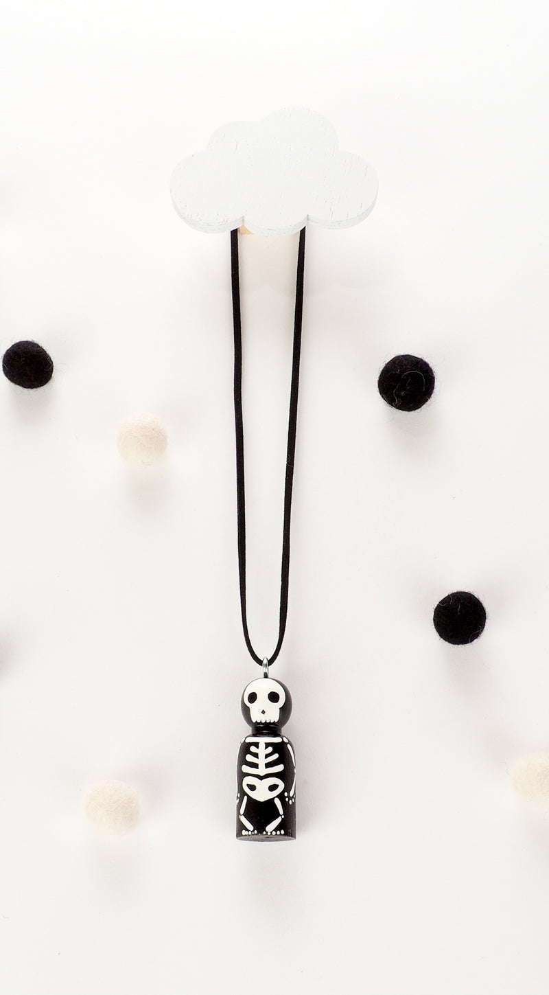 Glow-in-the-Dark - Personalized Peg Doll Necklace and Ornament