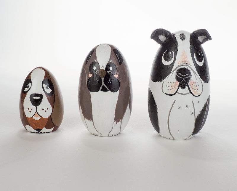 Black Dog Peg Dolls – Unique pet portrait for pet owners