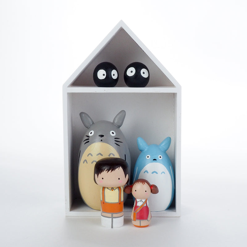 Custom Totoro Kokeshi Dolls Set