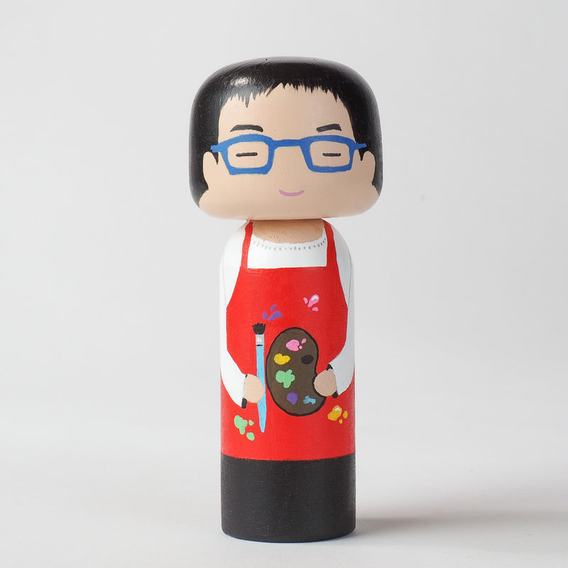 Introducing our new hobby and occupational Kokeshi dolls!  Give something unique and personalized.  Customize a hobby or occupation of your family, friends, or colleagues on Kokeshi dolls!  They are hand-painted with love that show the uniqueness of each individual.