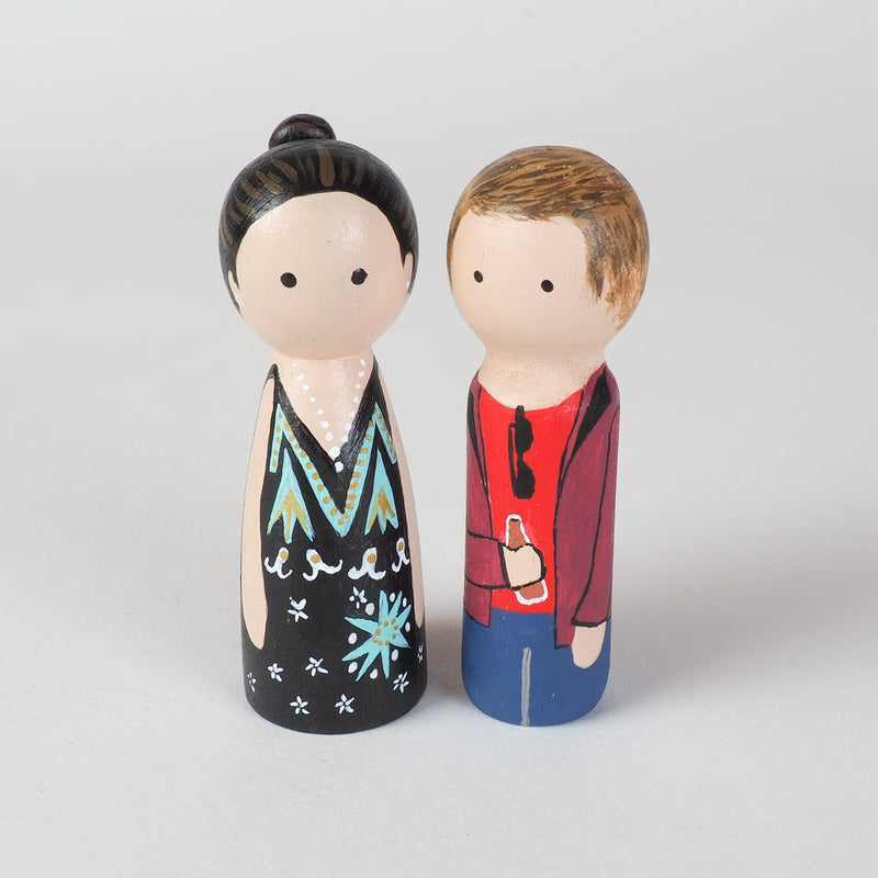 Give something unique and personalized.  Custom peg dolls of your family!  They are hand-painted that show the uniqueness of each individual in your family.  This will definitely touch the heart and bring smiles, may be even happy tears to your family.   These are great for parent's gifts, grandparent's gifts, birthdays, anniversary gifts, couples' gifts, or any other occasions.