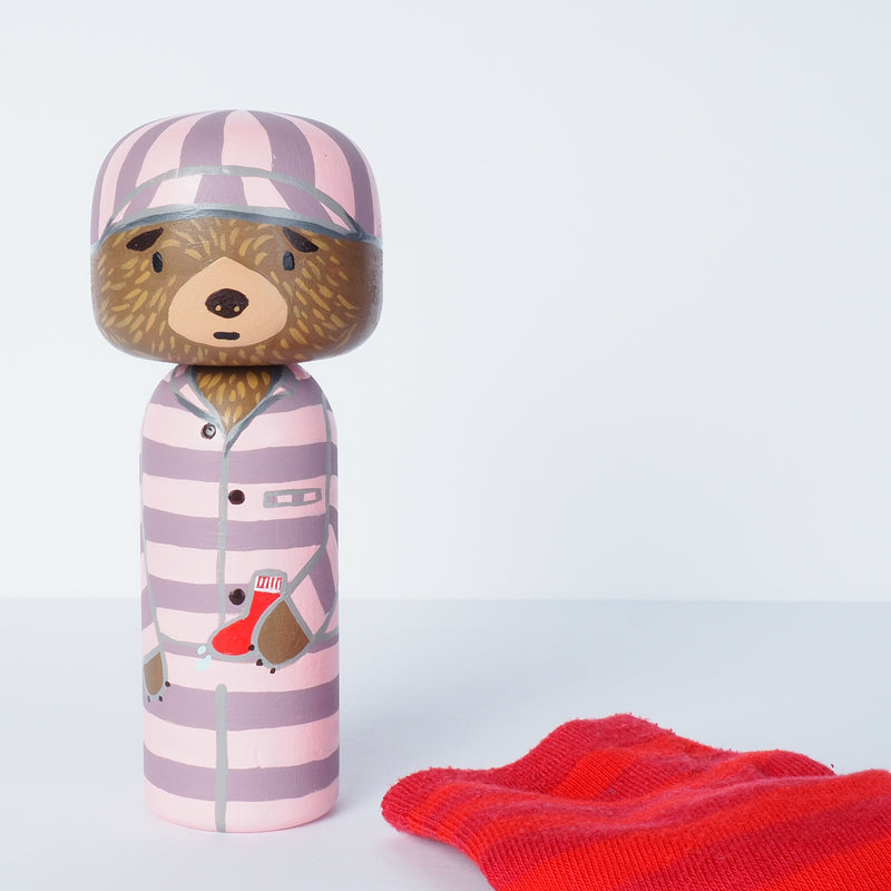 Paddington Kokeshi peg doll