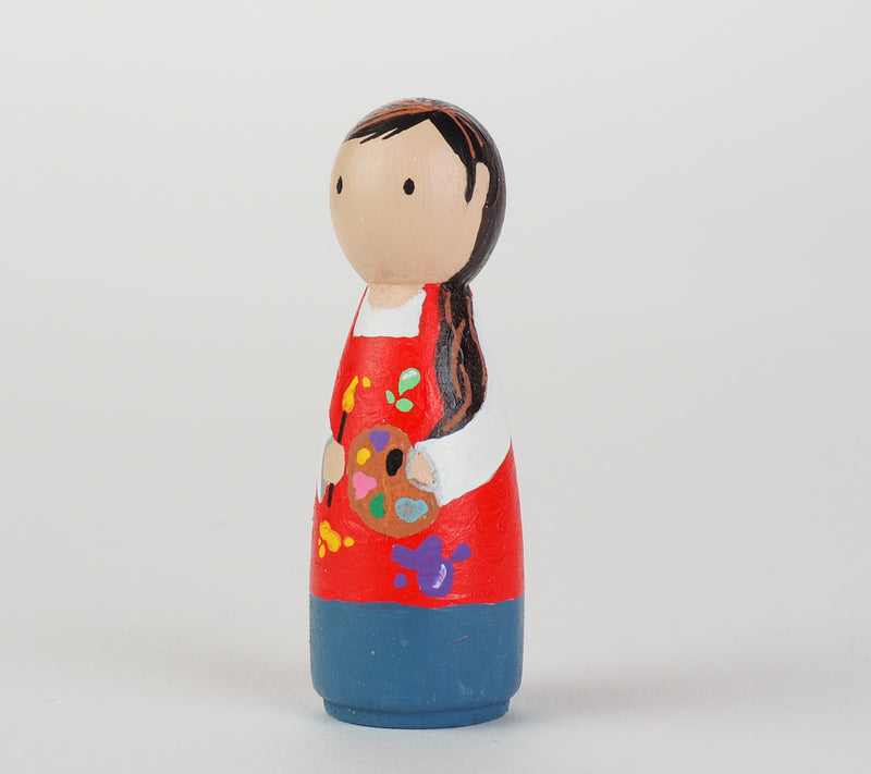 Occupational gift - Artist and Painter Peg Dolls