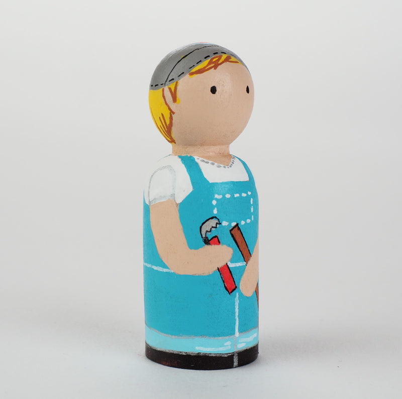Occupational gift - Plumber and Home fixer Peg Dolls