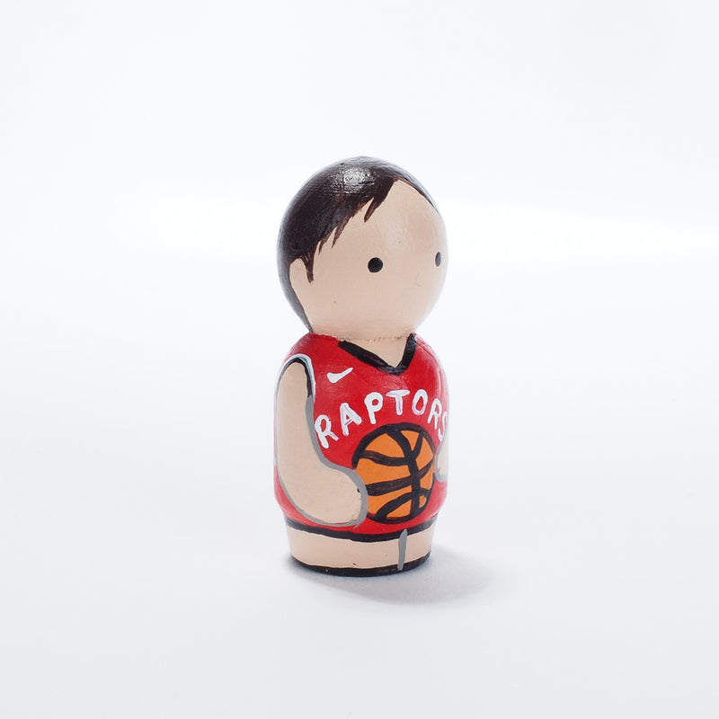 Raptors Fans - Family Peg Dolls and Kokeshi - Mini Family Portrait
