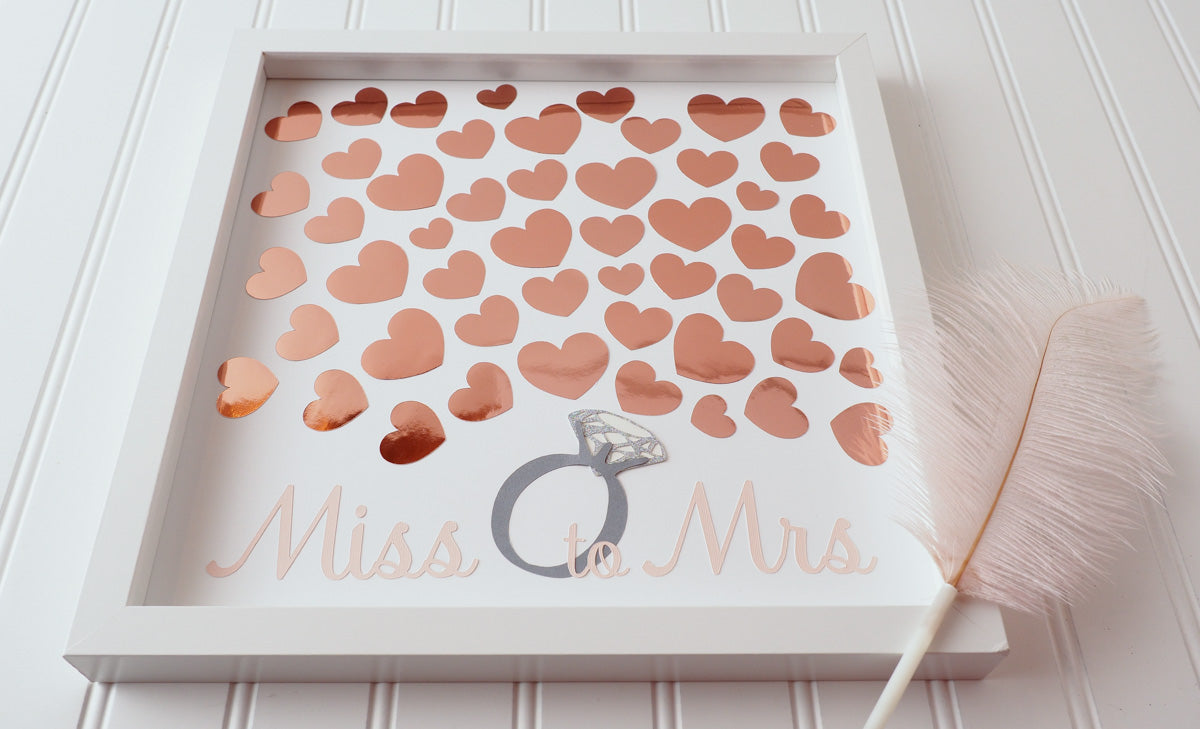 1666732552fb Throwing a bridal shower  Have your guests sign a rose gold heart and  preserve the ...