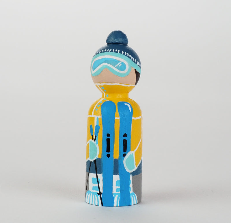 Occupational gift - Skier Peg Dolls