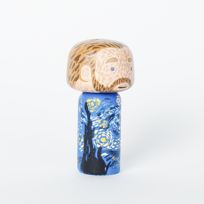 Van Gogh Mini Kokeshi - The Starry Night (Limited Edition)