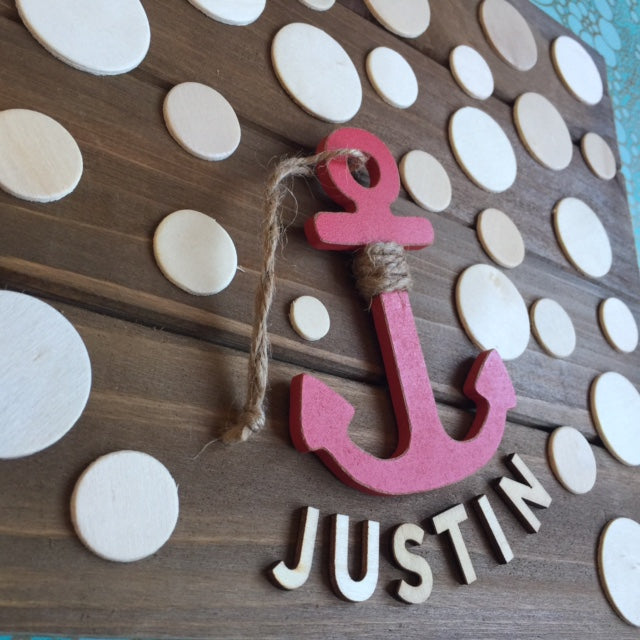 Wooden Nautical Guest book Alternative and Kid's Decor