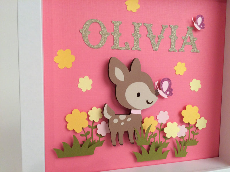 woodland personalized wall art