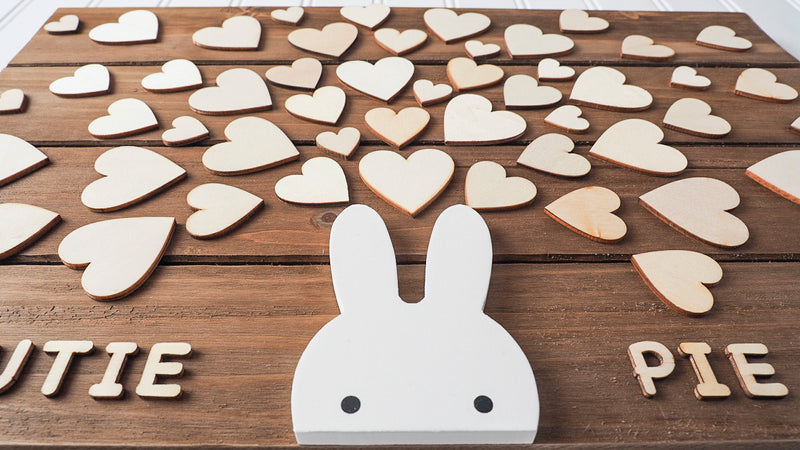 baby shower guestbook alternative - bunny