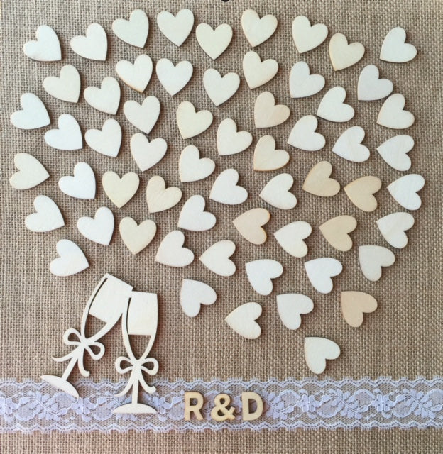 Burlap and Lace Wedding Guest Book Alternative