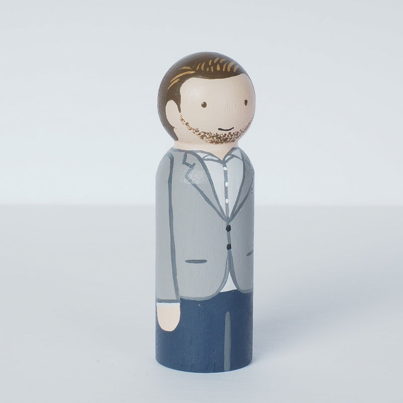 Work Colleague friends and retirement and go away gift - Peg dolls portrait