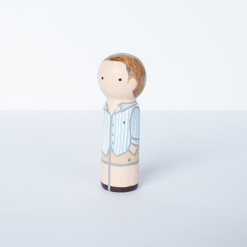 Father's Day gift - Family portrait mini Peg Dolls