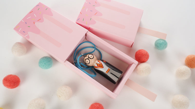 Personalized Peg Doll Necklace and Ornament - Harry Potter