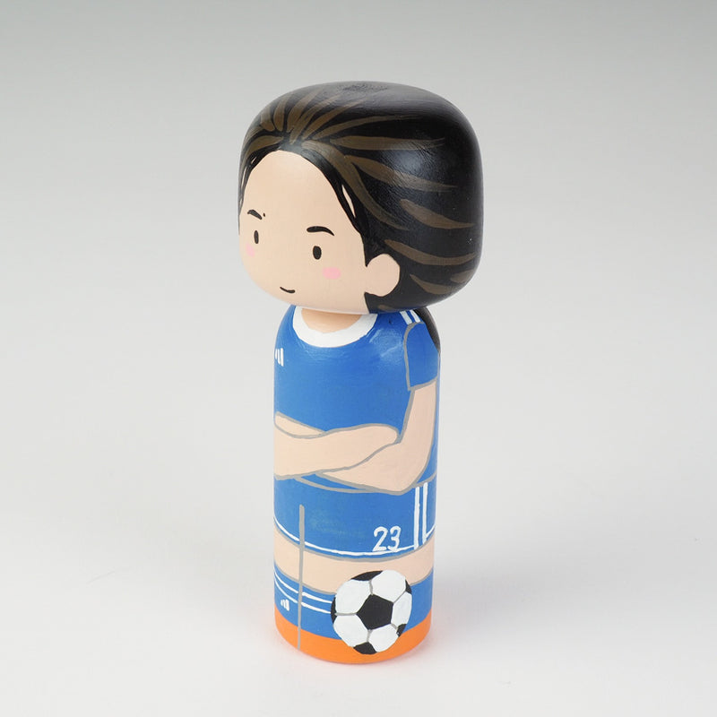 Introducing our new family portrait Kokeshi dolls!  Give something unique and personalized.  Customize your family, friends, or colleagues on Kokeshi dolls!  They are hand-painted with love that show the uniqueness of each individual such as specific sports or hobby.  Here is a family member who loves soccer but we can customize any sports.