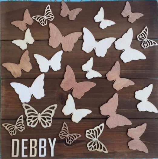 Wooden Butterfly Guest book Alternative and Kid's Decor