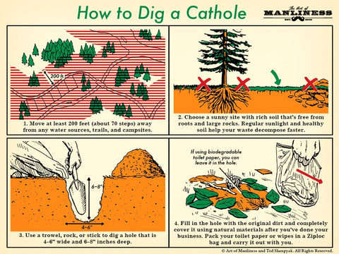 How to dig a cat hole camping