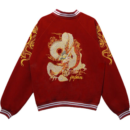 Punk Embroidered Dragon Bomber Baseball Jacket