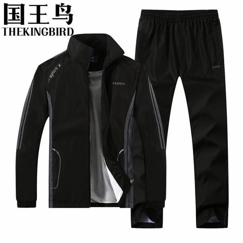 Sportswear Man's Long Sleeve Jacket + Pant Running Set