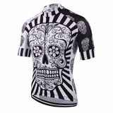 White skull Sublimation Printed Cycling Jersey Wear