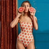 One Piece Printed Push Up Bra Bathing Suit