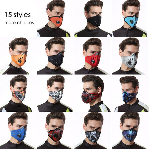d6b52388 Carbon Dust-proof Cycling Face Mask Shield – Philasport