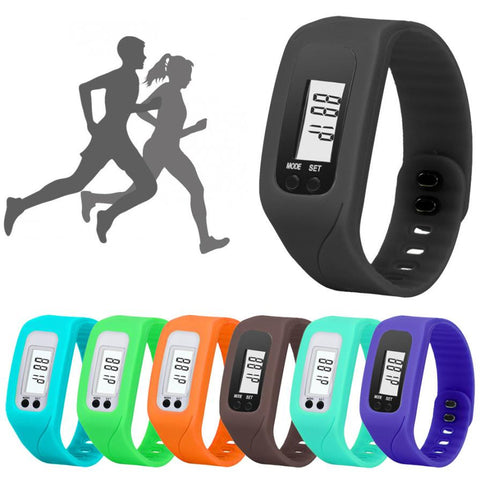 Digital LCD Pedometer Run Watch