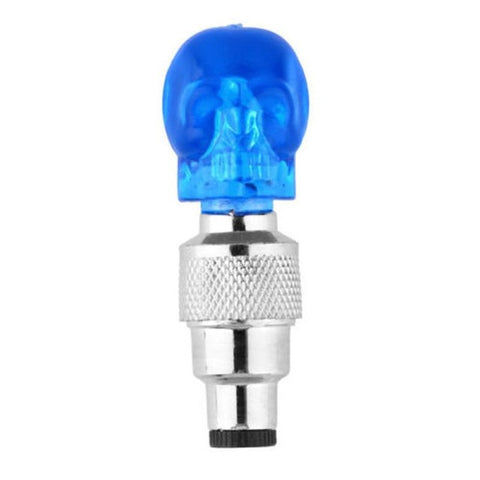 2pcs Bicycle Light Skull Shape Valve Caps LED Light