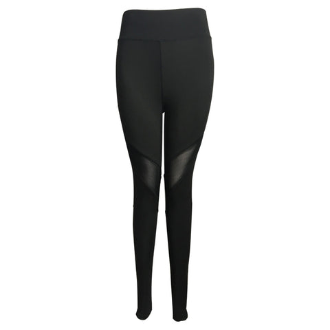 Women's Yoga Pants Stretch Mesh Leggings