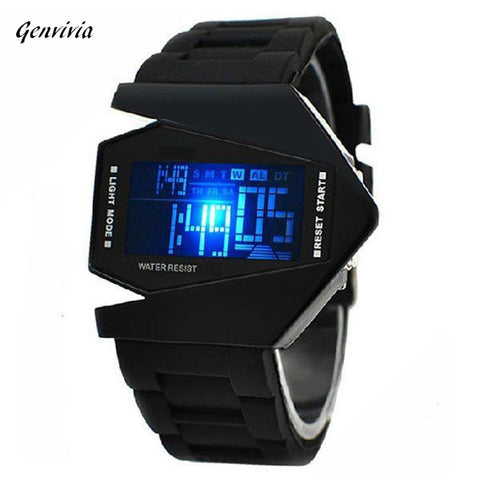 GENVIVIA  Airplane Aviator Pilot LED Flashlight Alarm Watch