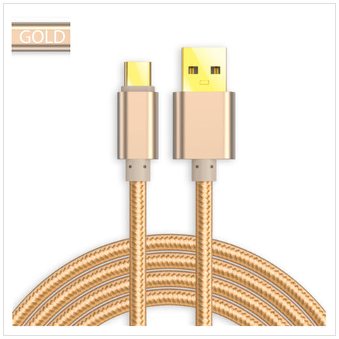 USB 3.1 Type C Sync & Charging Cable (Gold)