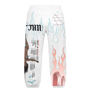 'NOT A CULt Tour' Sweatpants - White