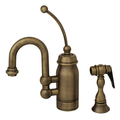 Antique Style Gooseneck Prep Kitchen Faucet & Side Spray MSRP: $900.00-$1000.00
